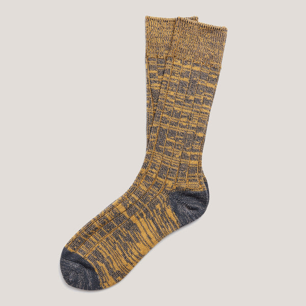 Cotton Socks (Yellow & Grey)