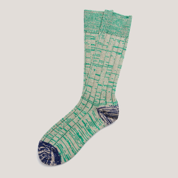Cotton Socks (Green & Stone Mix)