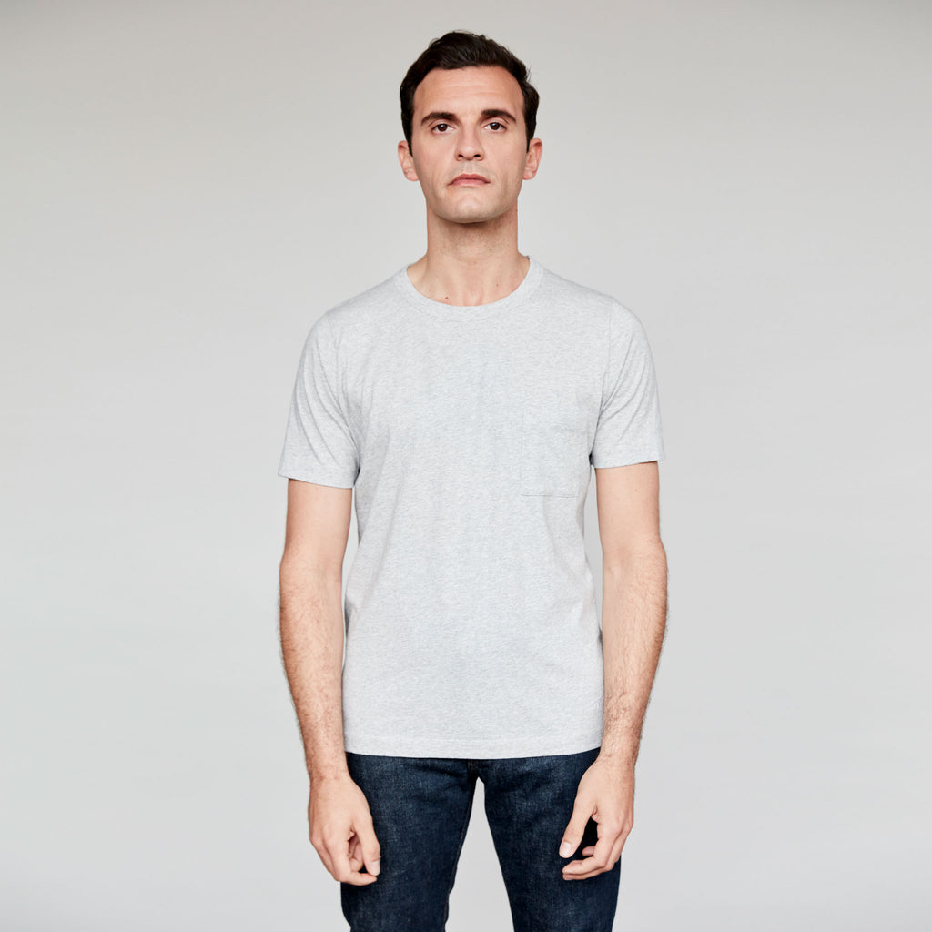 a21f75ca Men's Fine Cotton One Pocket Short Sleeve T-Shirt (Grey)   The Workers Club