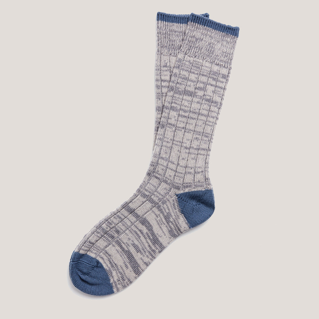 Merino Knit Socks (Light Grey Mix)
