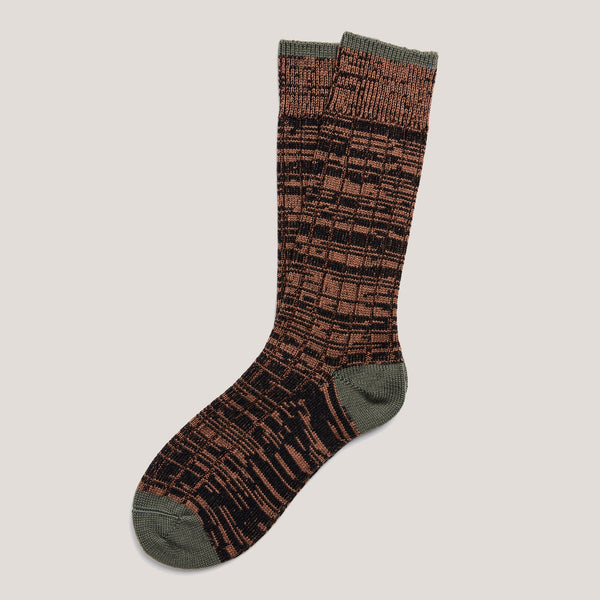 Cotton Socks (Brown & Black Mix)