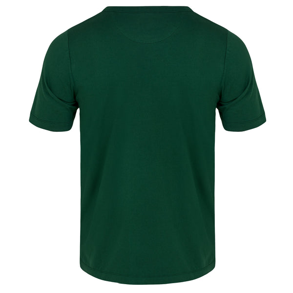 Men's Fine Cotton One Pocket Short Sleeve T-Shirt (Forest Green)