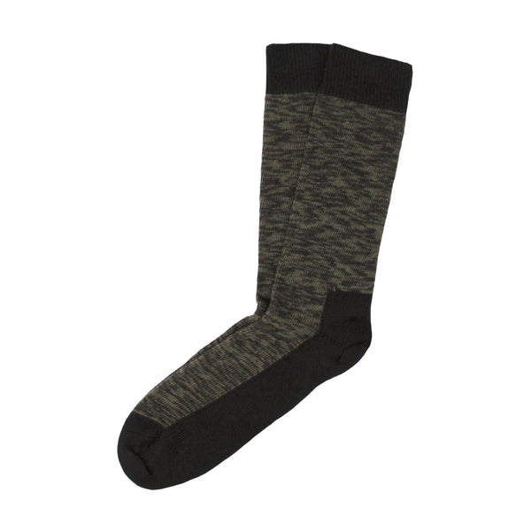 Combed Cotton Socks in Olive Mix