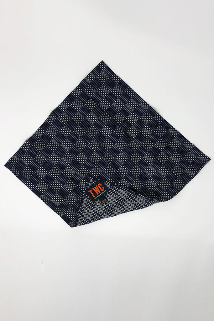 Japanese Sashiko Embroidered Cotton Hankie