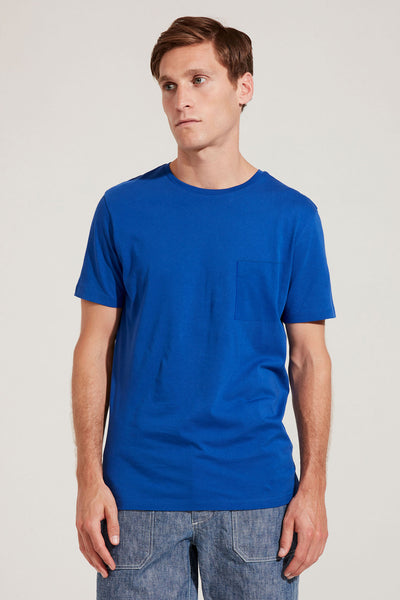 Men's Fine Cotton Short Sleeve T-Shirt (Cobalt)