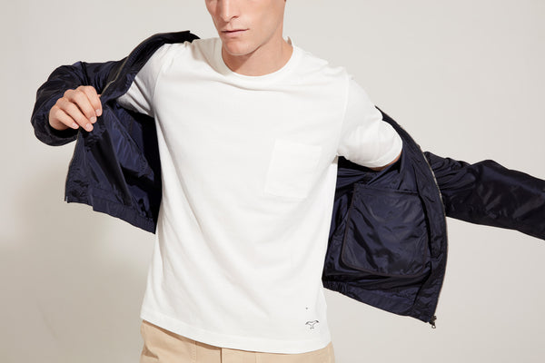 Men's Light Weight Bomber Jacket (Dark Navy)