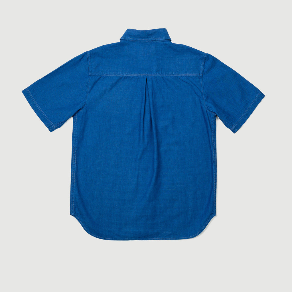 Men's Short Sleeve Shirt (Japanese Selvedge Indigo)