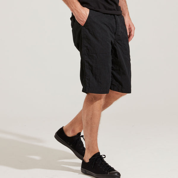 Men's Cotton Nylon Chino Shorts (Black)