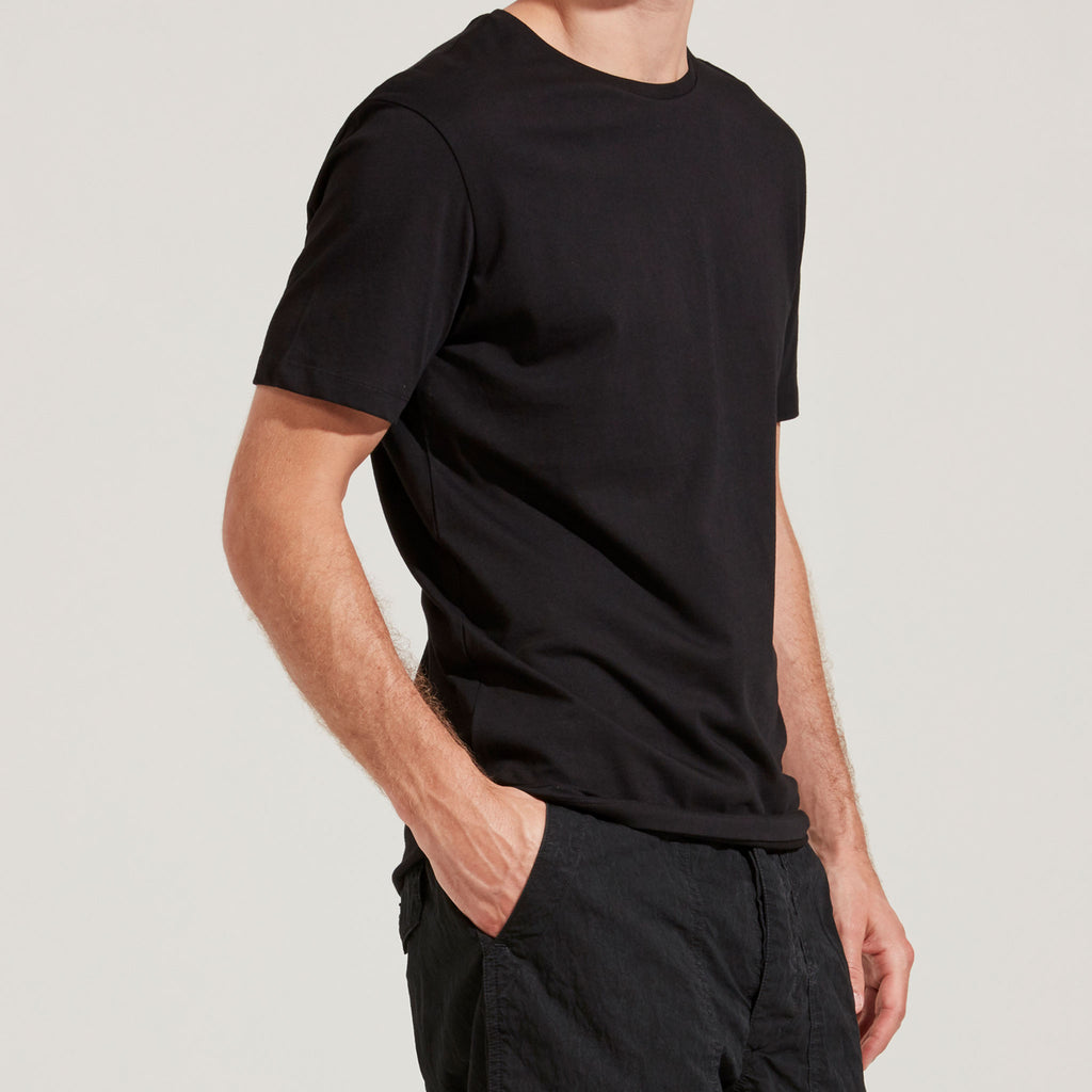 Men's Fine Cotton Short Sleeve T-Shirt (Black)