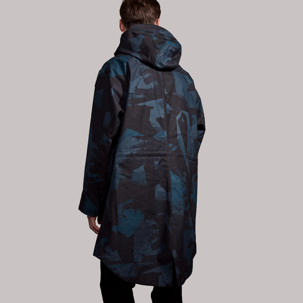Men's Abstract Camo Print Packable Parka