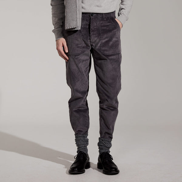 Men's Cord Chino (Grey)