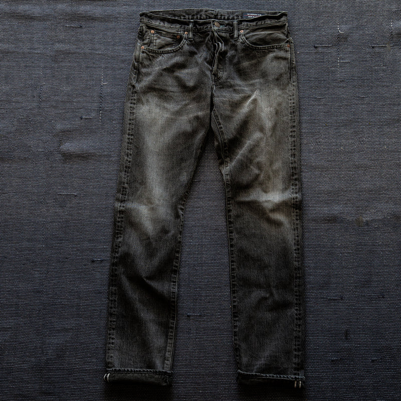 SLIM FIT - Selvedge Denim Jeans - Super Fade with Sashiko 33K