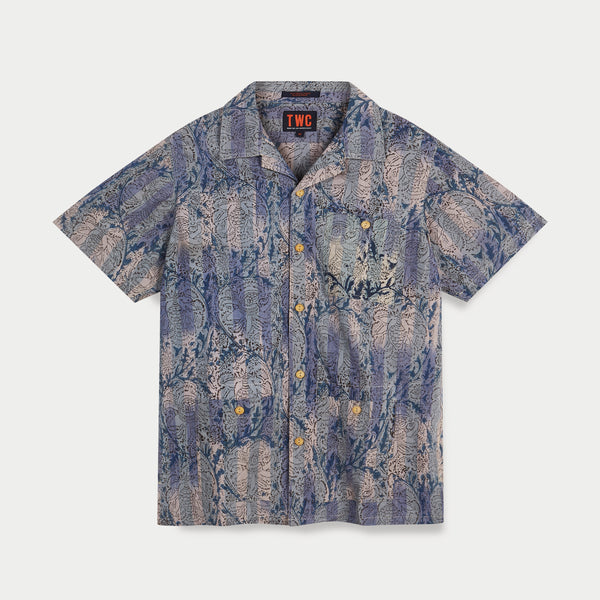 Camp Collar S/Slv Shirt (Block Print)