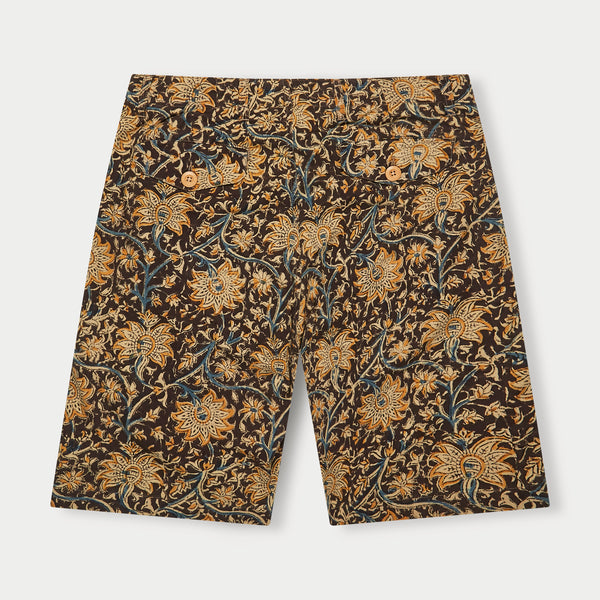 Patch Pocket Shorts (Floral Print)