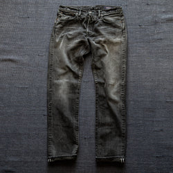 SLIM FIT - Selvedge Denim Jeans - Super Fade with Sashiko 34P