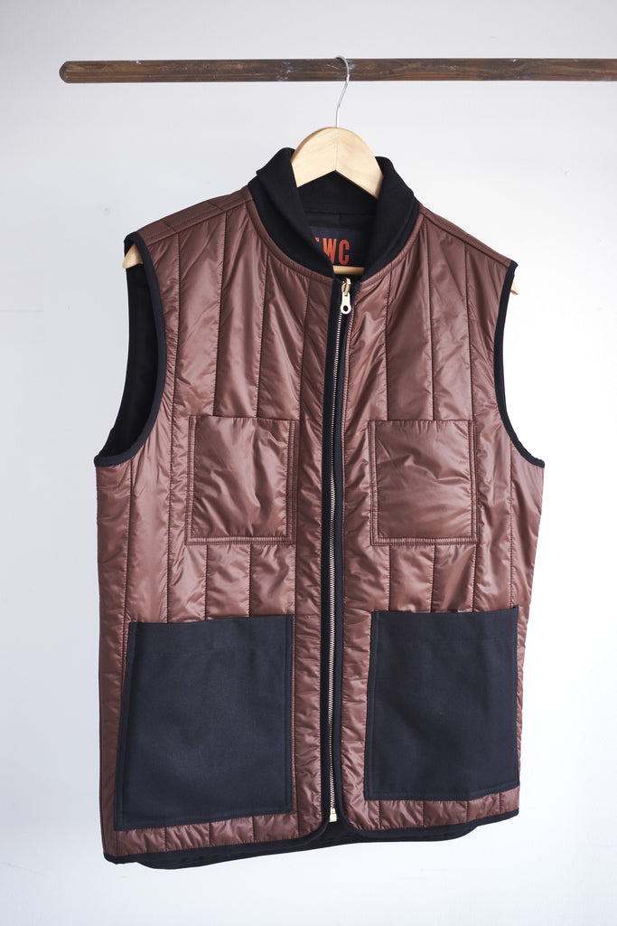 Men's Reversible Gilet (Black / Brown)