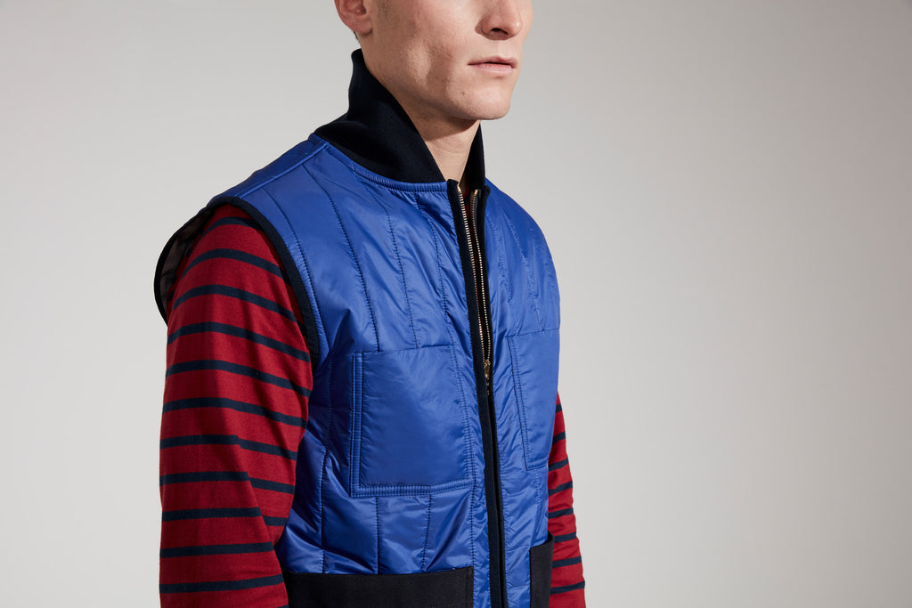 Men's Reversible Gilet (Cobalt / Grey)