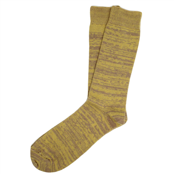 Cashmere Blend Socks (Yellow & Taupe)