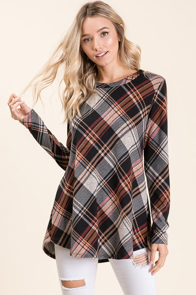 Winter Plaid Longsleeve Top