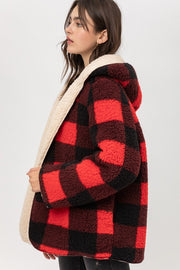 Reversible Buffalo Plaid Sherpa Jacket