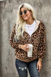 Stacy Leopard Bomber Jacket