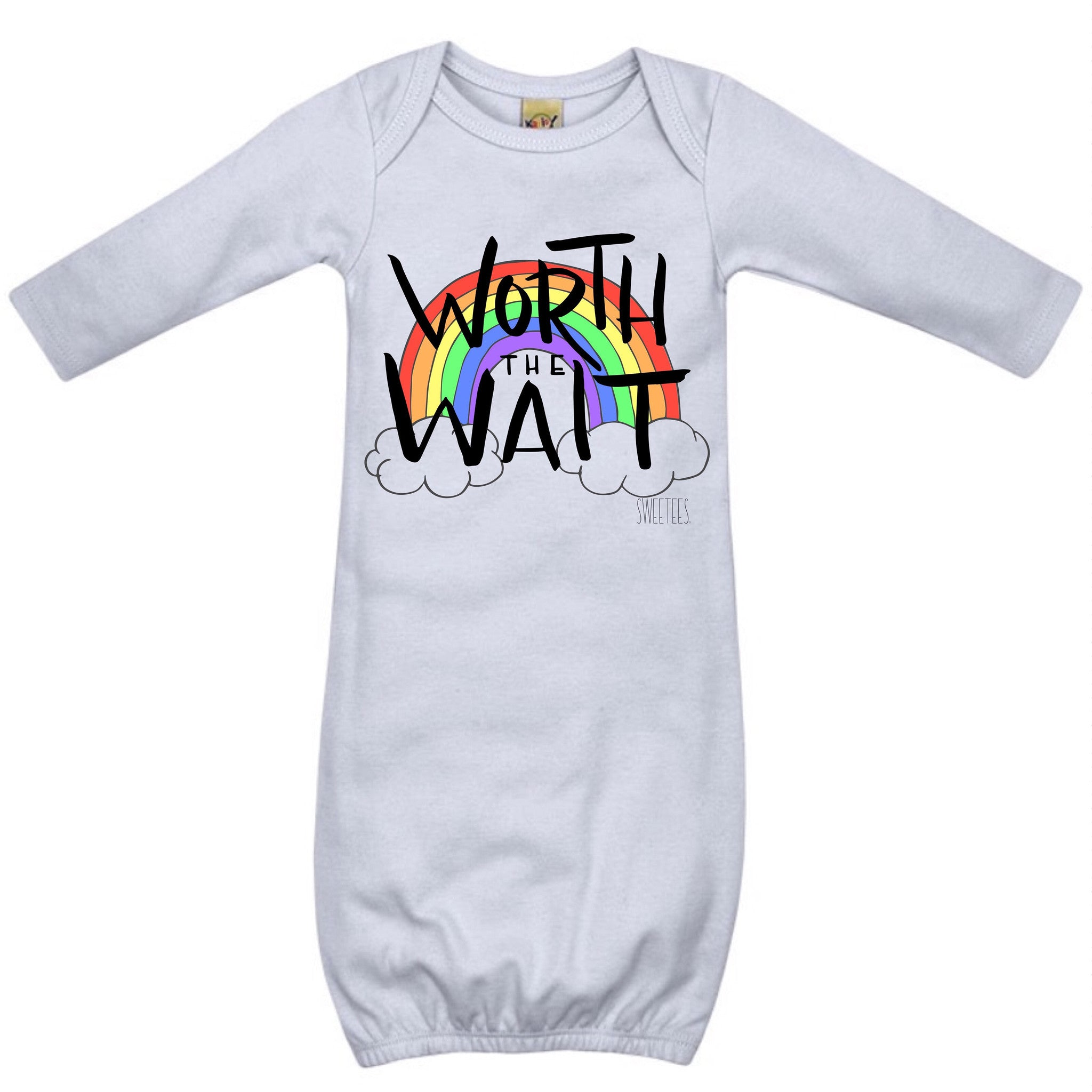 Worth The Wait Infant Gown – Sweetees Apparel