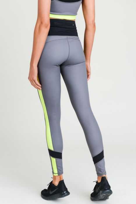 Highwaist Neon Colorblock Leggings