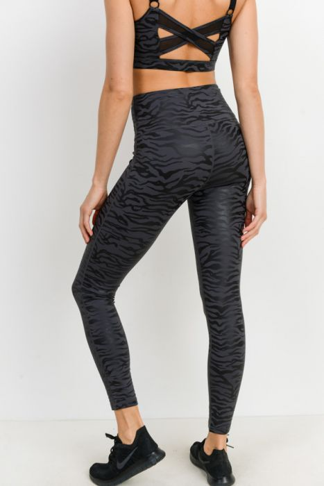 Tiger Print Foil Leggings
