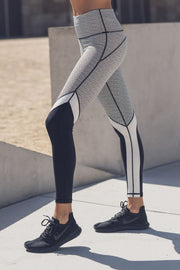 Static Pattern Blocked Leggings