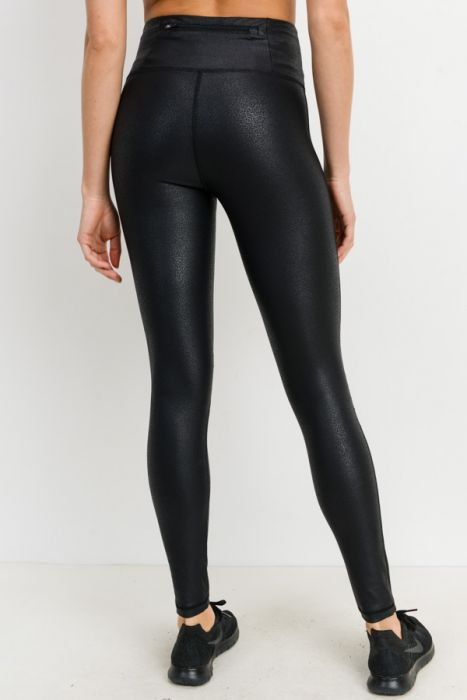 Foil Moto Ribbed Leggings