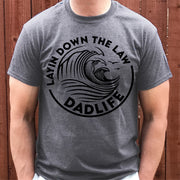Layin Down The Law DADLIFE Tee - Deep Heather Gray