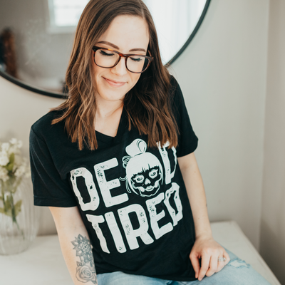 Dead Tired Slub V-Neck Tee