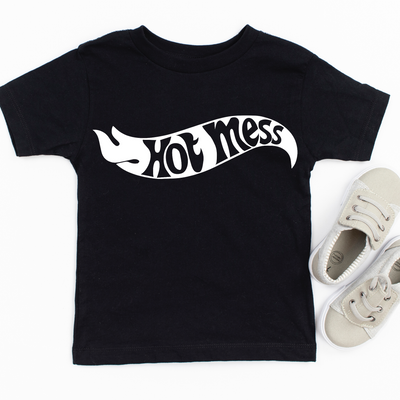 Hot Mess Hotwheels Kids Tee