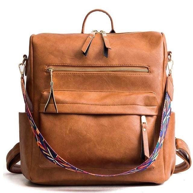 Hailey Convertible Backpack - Camel