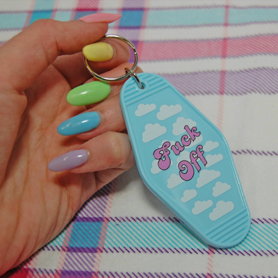 F Off Clouds Keychain