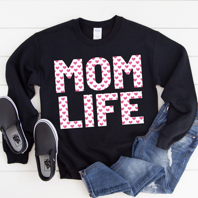MOMLIFE Heart Sweatshirt - Black (PREORDER)