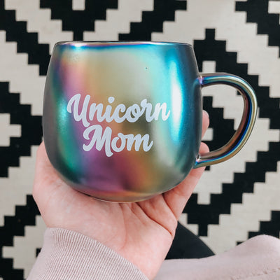 Unicorn Mom Rainbow Mug