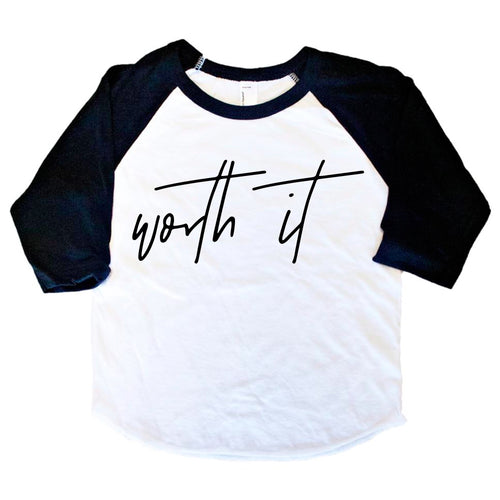 Worth It Kids Baseball Tee/Bodysuit