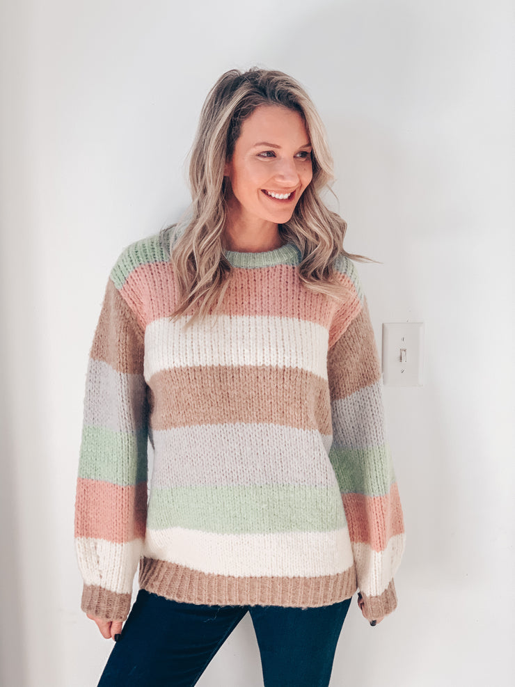 Molly Chunky Knit Colorblock Sweater