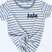 Striped Babe Icon Tee