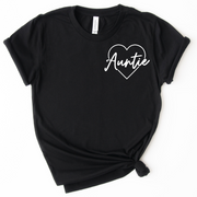 Auntie Icon Tee - Black w/ White Print