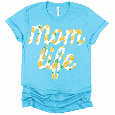 Momlife Pineapple Print Tee