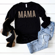 MAMA Neutral + Rose Gold Leopard Pullover