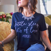 Little Sleep, Lots of Love Tee - Black