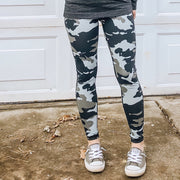 Black Camo High Waist Leggings