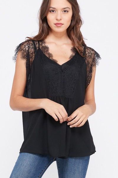 Lola Lace Top - Black