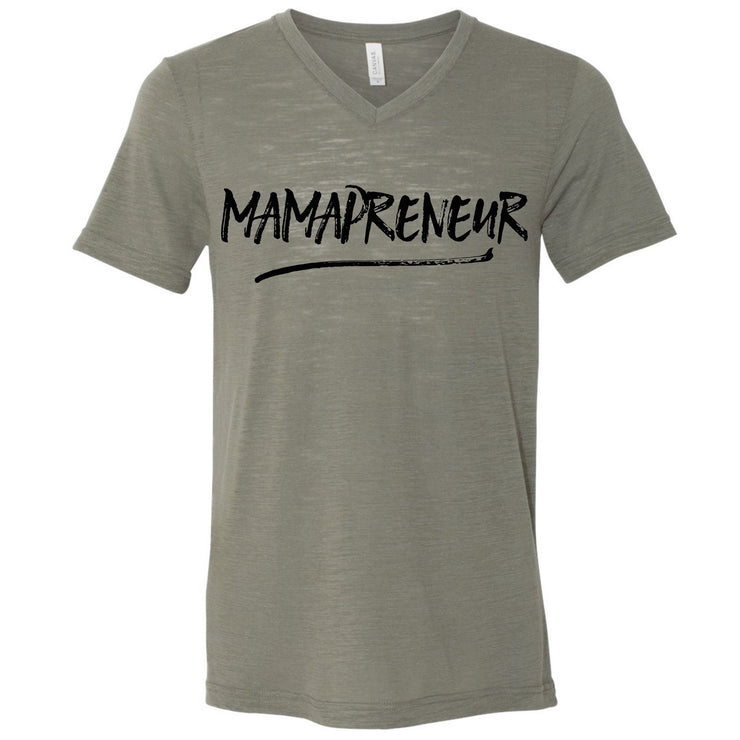 MAMAPRENEUR Tee - Olive with Metallic Black Print