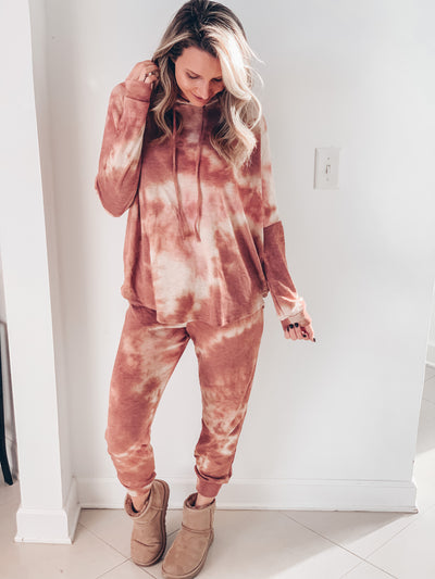 Rust Tie Dye Lounge Set