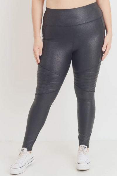 Foil Moto Leggings - PLUS