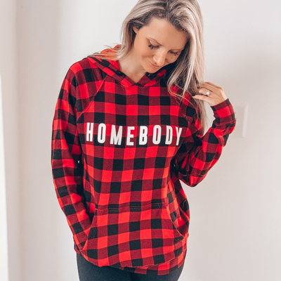 Homebody Buffalo Plaid Hoodie